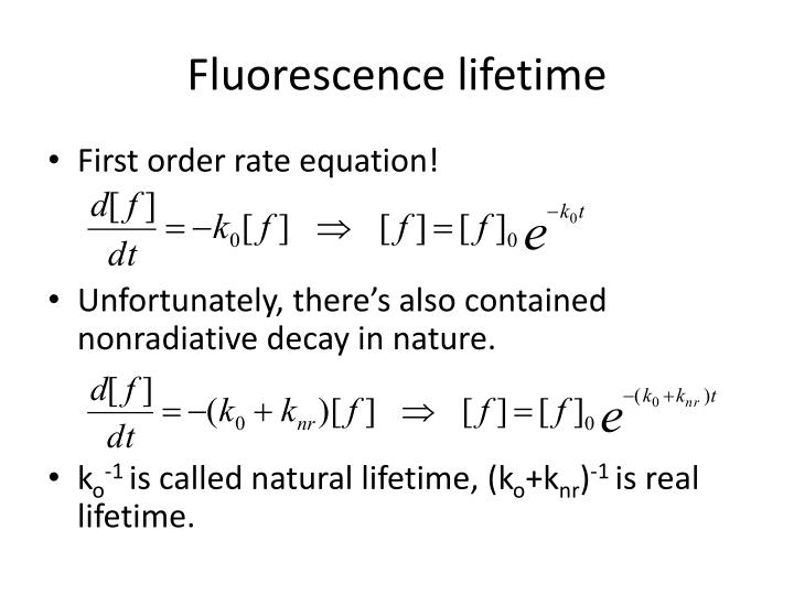 Fluorescence lifetime