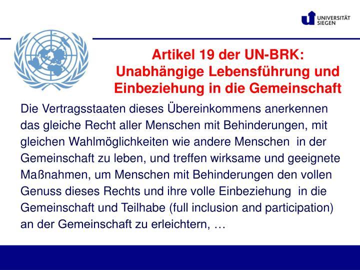 Artikel 19 der UN-BRK: