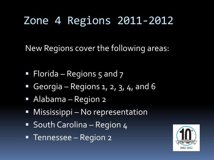 Zone 4 Regions 2011-2012