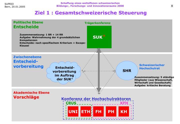 Schaffung eines weltoffenen schweizerischen