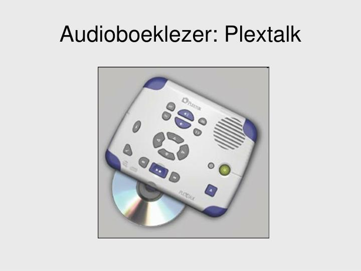 Audioboeklezer: Plextalk