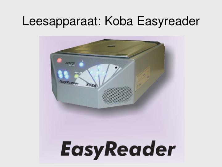 Leesapparaat: Koba Easyreader