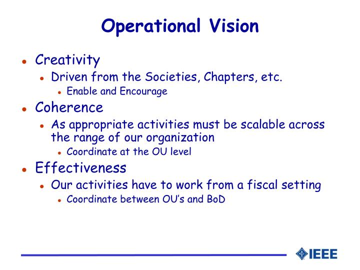 Operational Vision