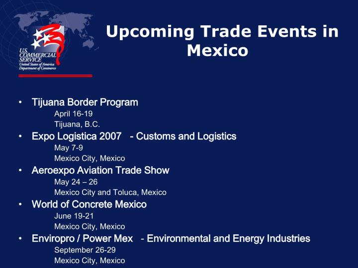 Upcoming Trade Events in Mexico