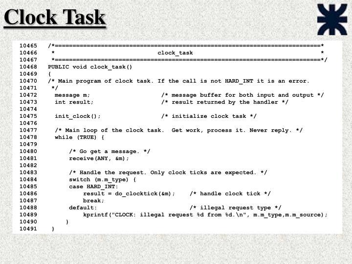 Clock Task