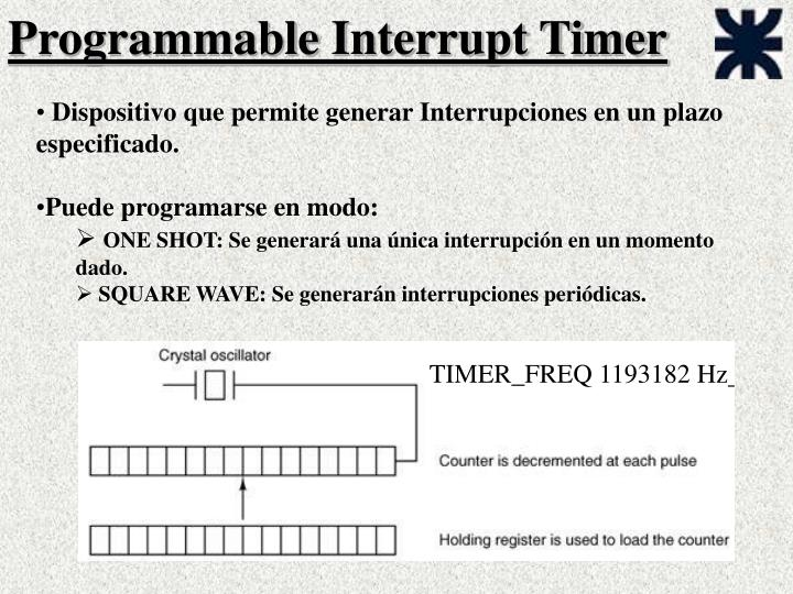 Programmable interrupt timer