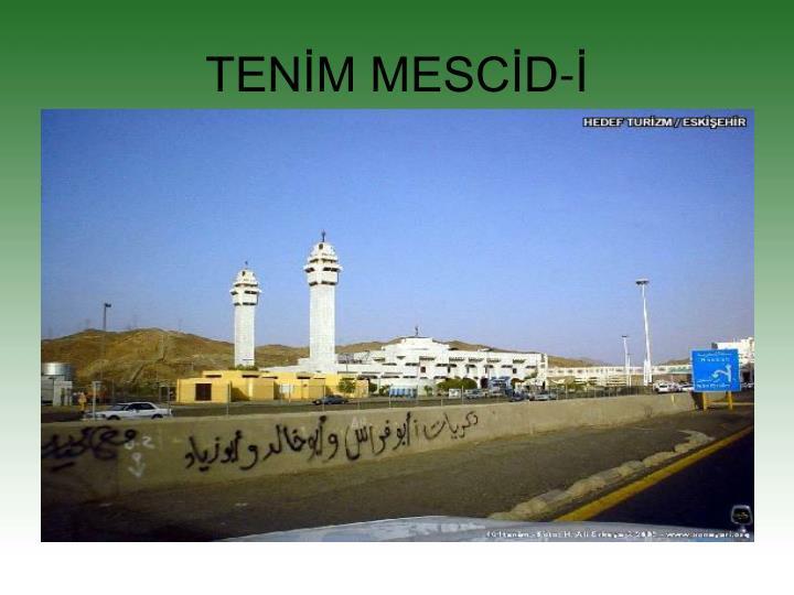 TENİM MESCİD-İ