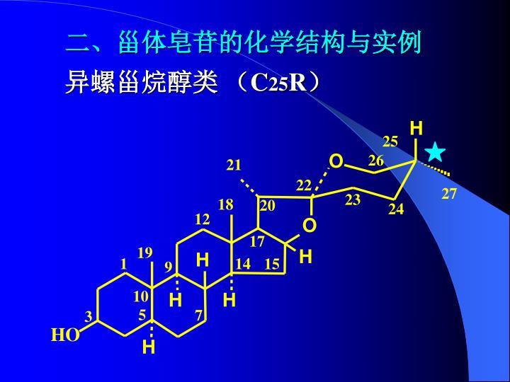 二、甾体皂苷的化学结构与实例