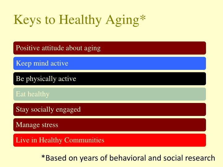 Keys to Healthy Aging*
