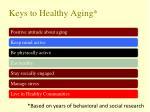 keys to healthy aging