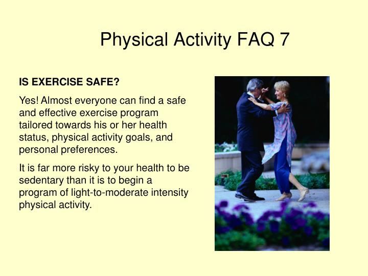 IS EXERCISE SAFE?