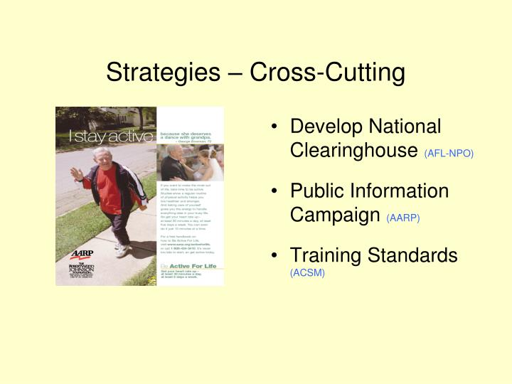 Strategies – Cross-Cutting