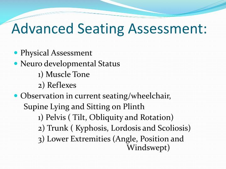 Advanced seating assessment