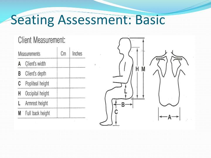 Seating assessment basic