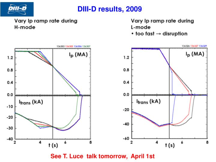DIII-D results, 2009