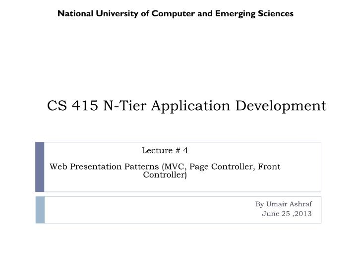 Cs 415 n tier application development