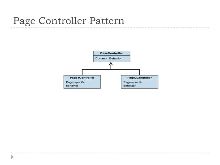 Page Controller Pattern