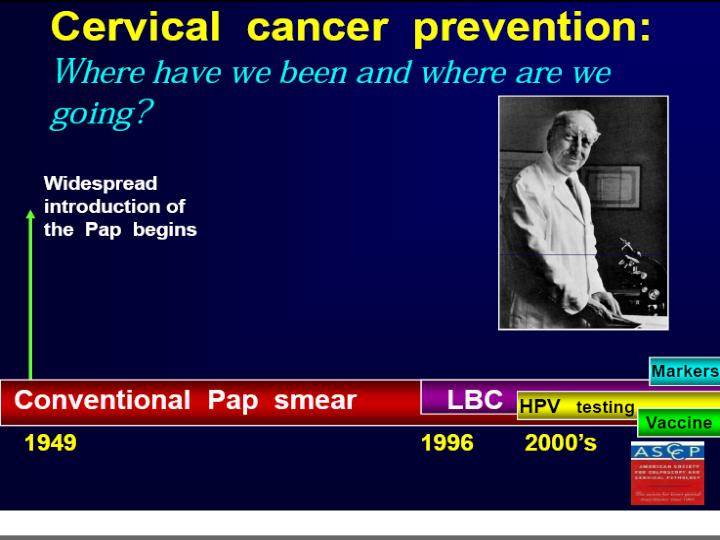 Cervical cancer screening recommendations 2012