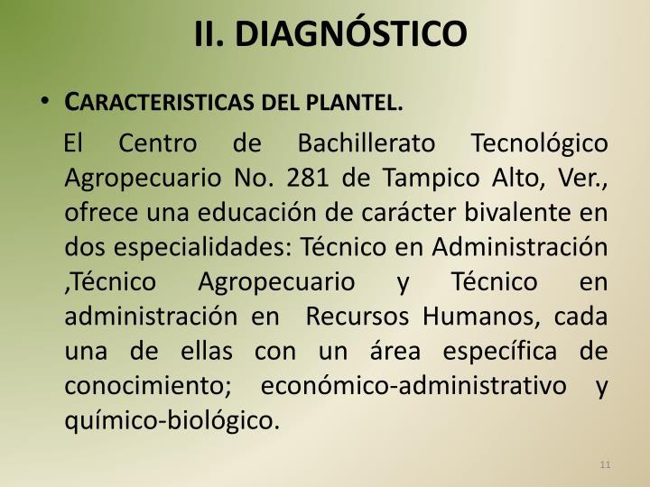 II. DIAGNÓSTICO