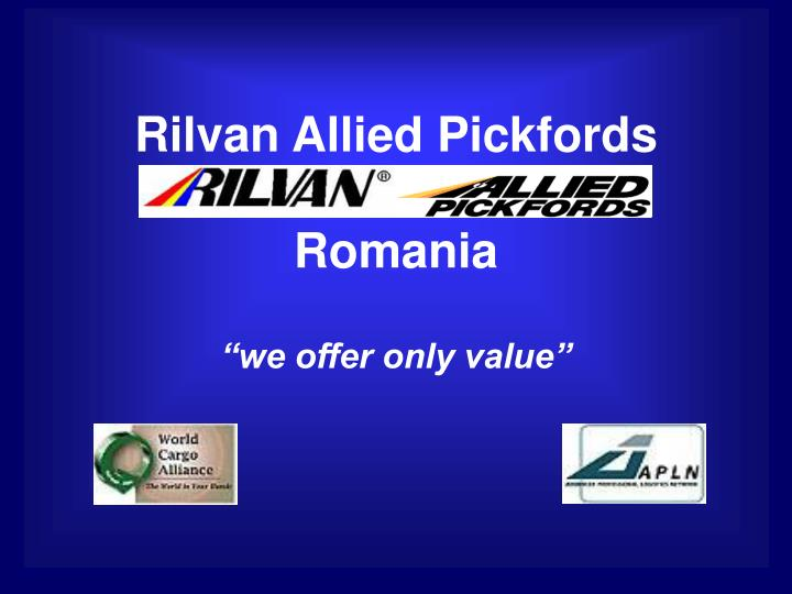 Rilvan allied pickfords romania