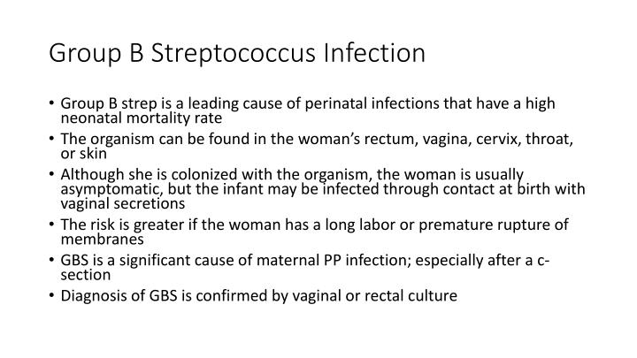 Group B Streptococcus Infection