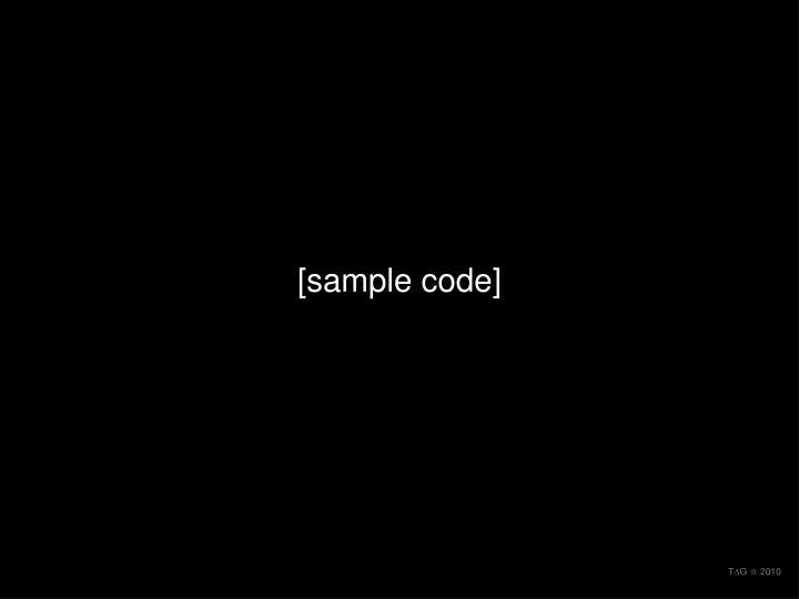 [sample code]