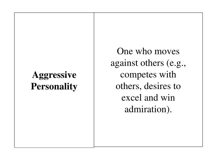 Aggressive Personality
