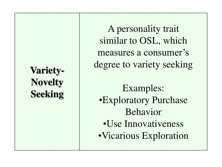 Variety-Novelty Seeking