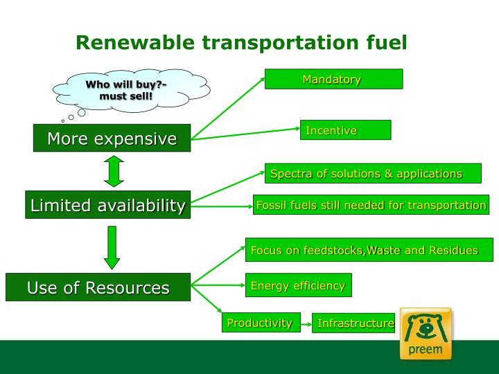 Renewable transportation fuel
