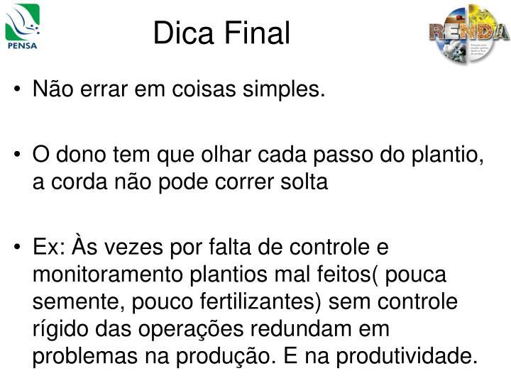 Dica Final