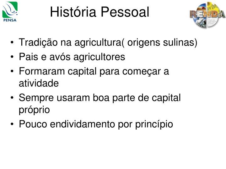 História Pessoal