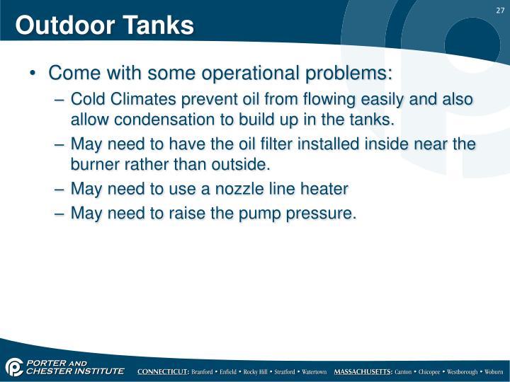 Outdoor Tanks