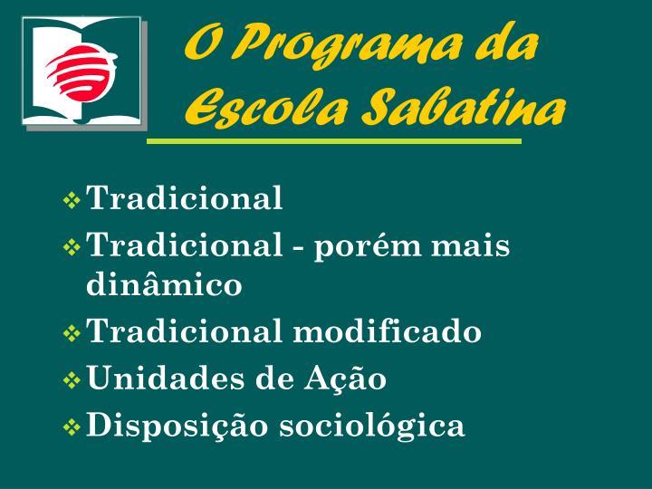 O Programa da Escola Sabatina