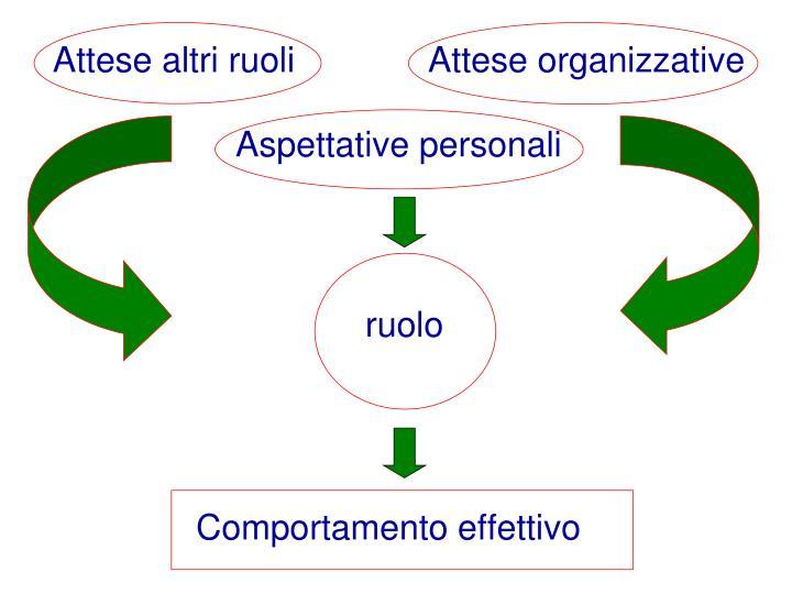 Attese altri ruoli      Attese organizzative
