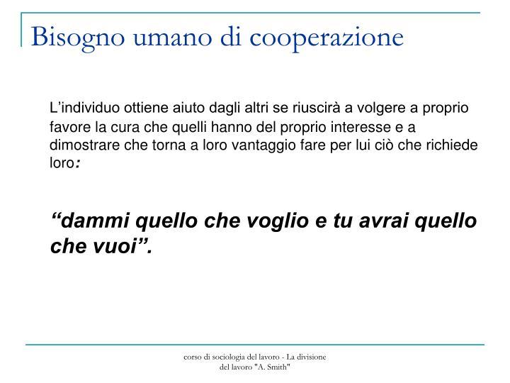 Bisogno umano di cooperazione