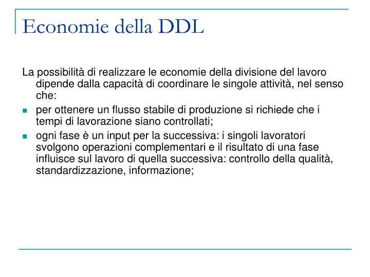 Economie della DDL