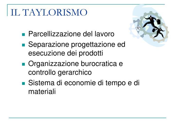 IL TAYLORISMO