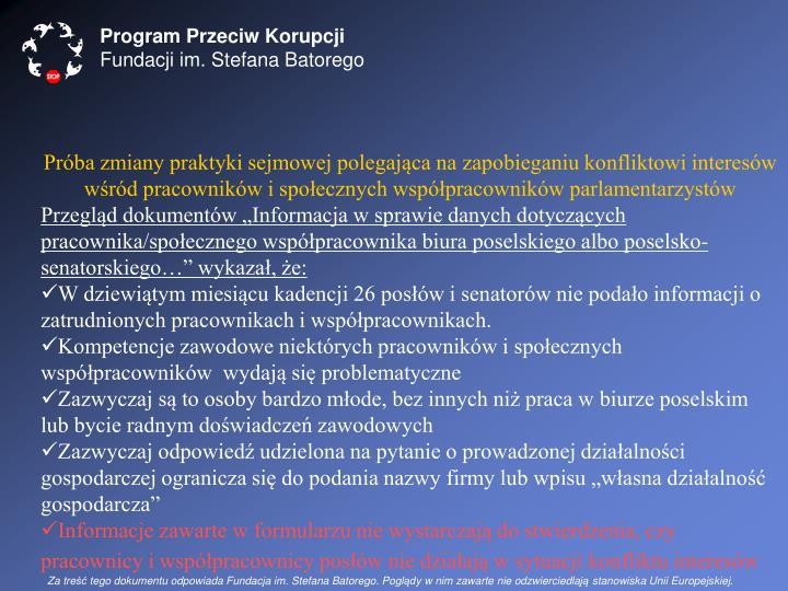 Program Przeciw Korupcji
