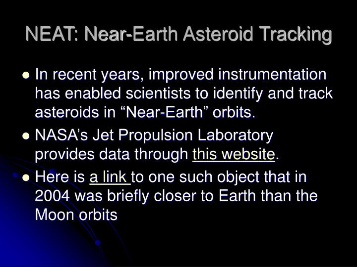 recent near earth asteroids - photo #26