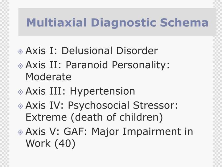 Multiaxial Diagnostic Schema