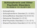 schizophrenia and other psychotic disorders