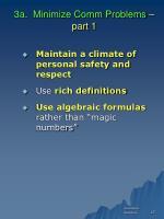 3a minimize comm problems part 1