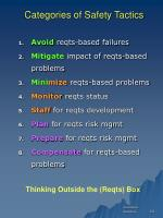 categories of safety tactics