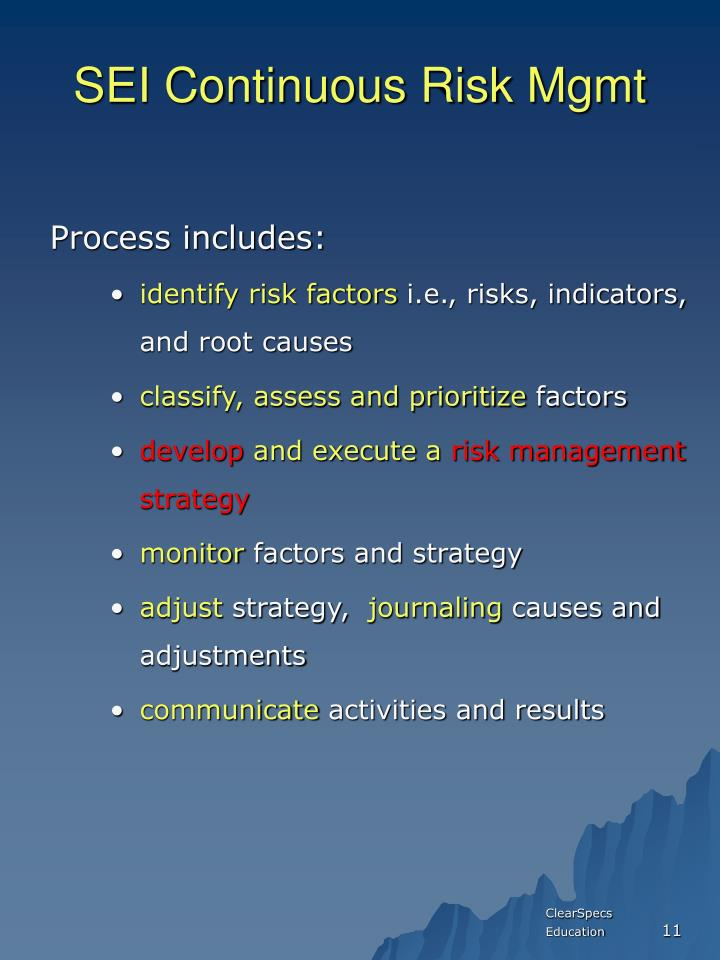 SEI Continuous Risk Mgmt