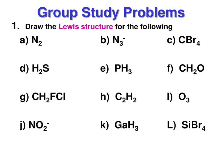 Group Study Problems