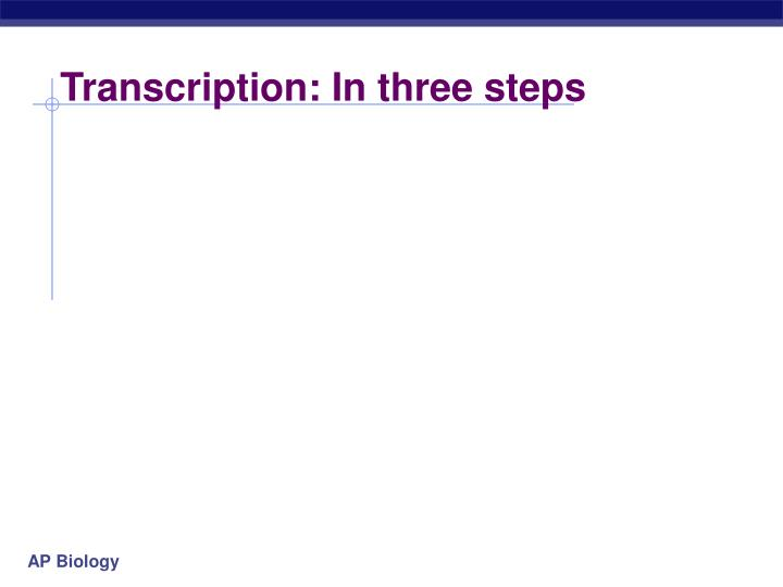 Transcription: In three steps