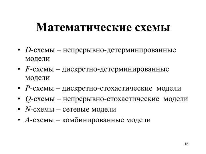Математические схемы
