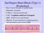 2nd degree heart block type 1 wenkebach