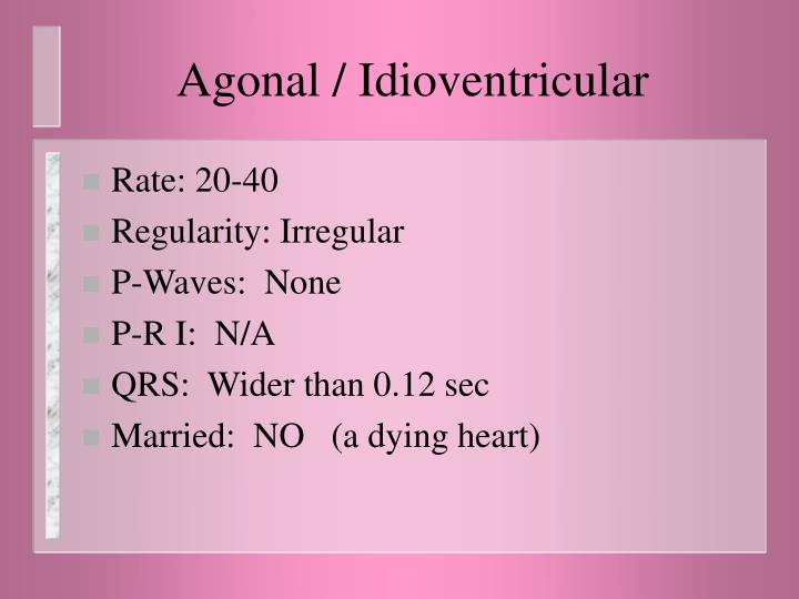 Agonal / Idioventricular