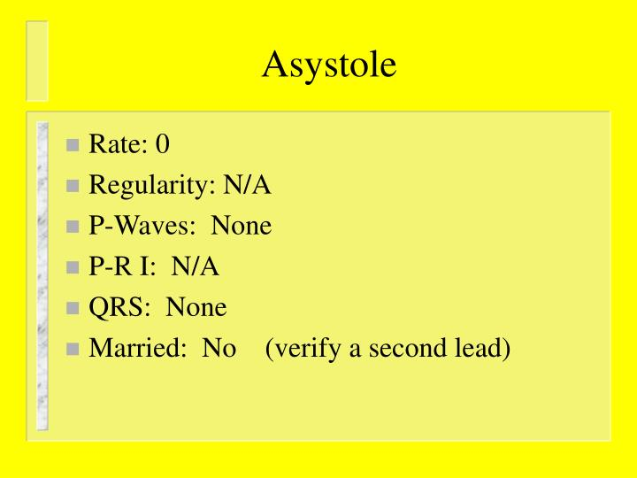 Asystole